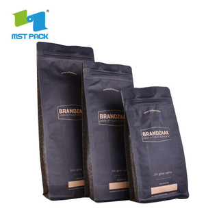 Compostable Recylce Craft Paper Bag Biodegradable Eco Coffee Bags China Wholesale
