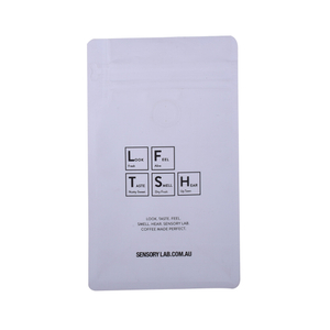 Free Samples Custom Printed Seal Compostable Flat Bottom Transpar Coffee Bag 1Kg