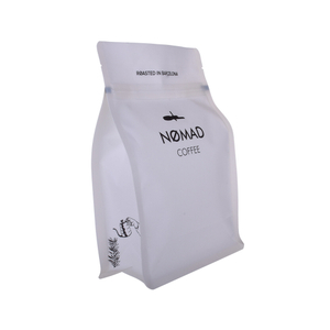 Inventory Foil Lined Resealable Compostable Flat Bottom Packag Compostable Coffee Bag