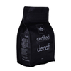 Recyclable Certified Black Block Bottom Brewing Coffee Pouch
