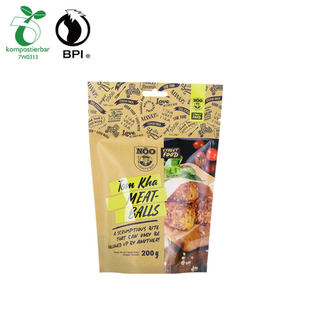 Good Seal Custom Plastic Food Grade Packaging Marinated Meat Stand Up Pouch With Color Printed