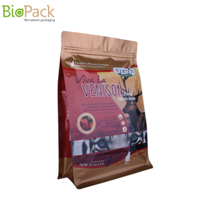 Good Quality Customized Printing Recyclable Side Gusset Pouch for Pet Food Packaging with Pocket Zipper