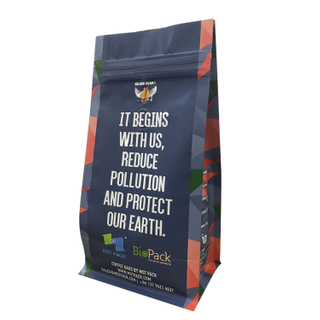 Gravure Printing Colorful Plastic Flat Bottom Bag Coffee with Zipper