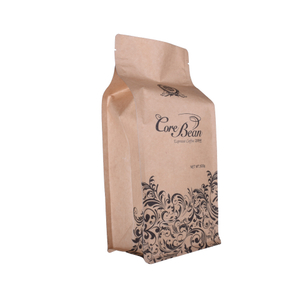 China manufacturer Compostable Biodegradable Material PLA Stand up Pouch for Coffee Packaging with Zipper with Valve