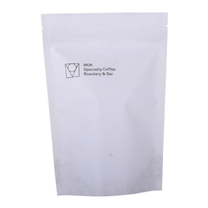 High Barrier White Roastery Coffee Stand up Pouch