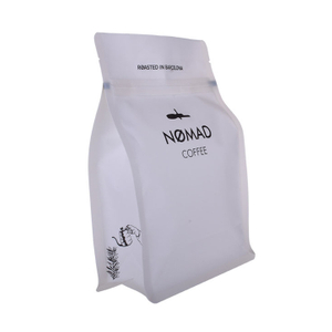 White Bag Laser Scored Easily-tear Ziplock Coffee Pouch