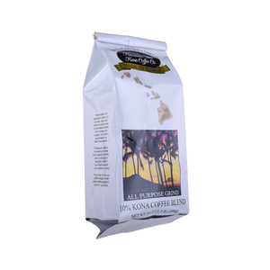 Custom Printed OEM Resealable Foil Laminated One-way Valve Coffee Pouch Tin-tie Side Gusset Pouch Supplier