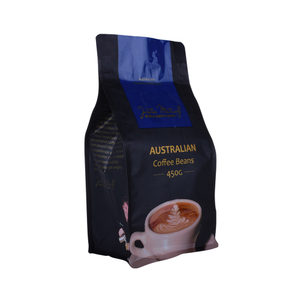 Custom Printing Reseal Biodegradable Flat Bottom Coffee Bag Costa Rica