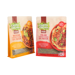 ECO-friendly Bottom Gusset Recyclable Noodles Packaging Food Bags with Clear Window