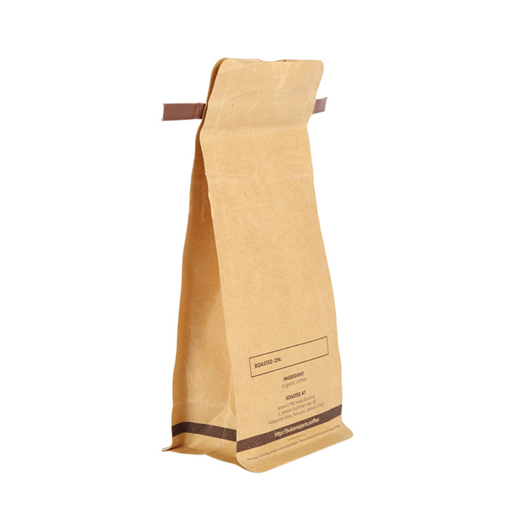 Custom Printed Gusseted Coffee Bag with Tin Tie