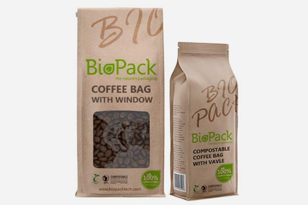Compostable & Biodegradable Coffee Bag
