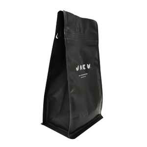 Recyclable Custom Printed Pocket Zipper Stand Flat Bottom Coffee Bag Food Grade Flexible Packaging