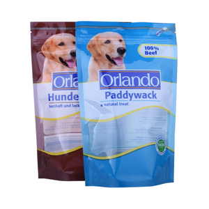 Colorful Packaging Plastic Stand Up Pet Food Bags For Dog / Cat Food Bags