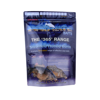 Fishing supplies food grade baits package transparent window handmade fish food feeding snack bag