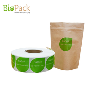 Custom Design Compostable Sticker Label for Paper Or Plastic Packaging Bags