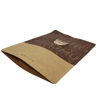Natural Kraft Paper Superfood Packaging Zipper Coffee Stand Up Bag