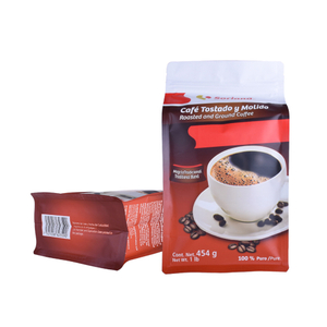 Custom Logo Printed PET/PE Aluminum Foil Flat Bottom Gusset Coffee Tea Bags