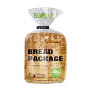 100% Recyclabe Compostable Bio Laminated Bread Packaging Bag Biopack Supplier