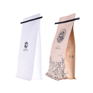 White Kraft Paper Coffee Bags Zipper Stand Up Pouches Tin Tie White Coffee Bags Wholesale