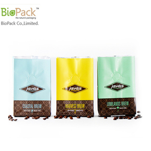 Eco Friendly Compostable Cornstarch PLA Plastic Food Packaging Bag with Zip Lock From China