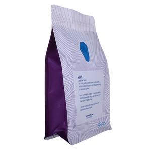 250g 1kg 12oz Flat Bottom Coffee Bag With Valve