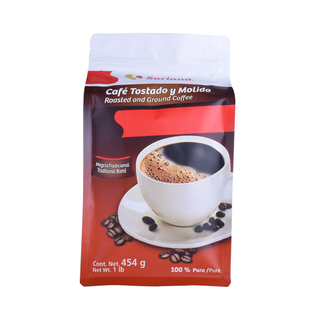 Biodegradable Packaging Flat Bottom Pouch Coffee Bag