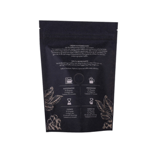 200g compostable kraft paper doypack with degassing valve and zip lock