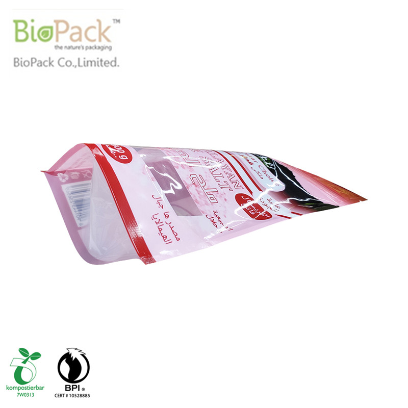 Sustainability Recyclable Plastic bath salt Pouch