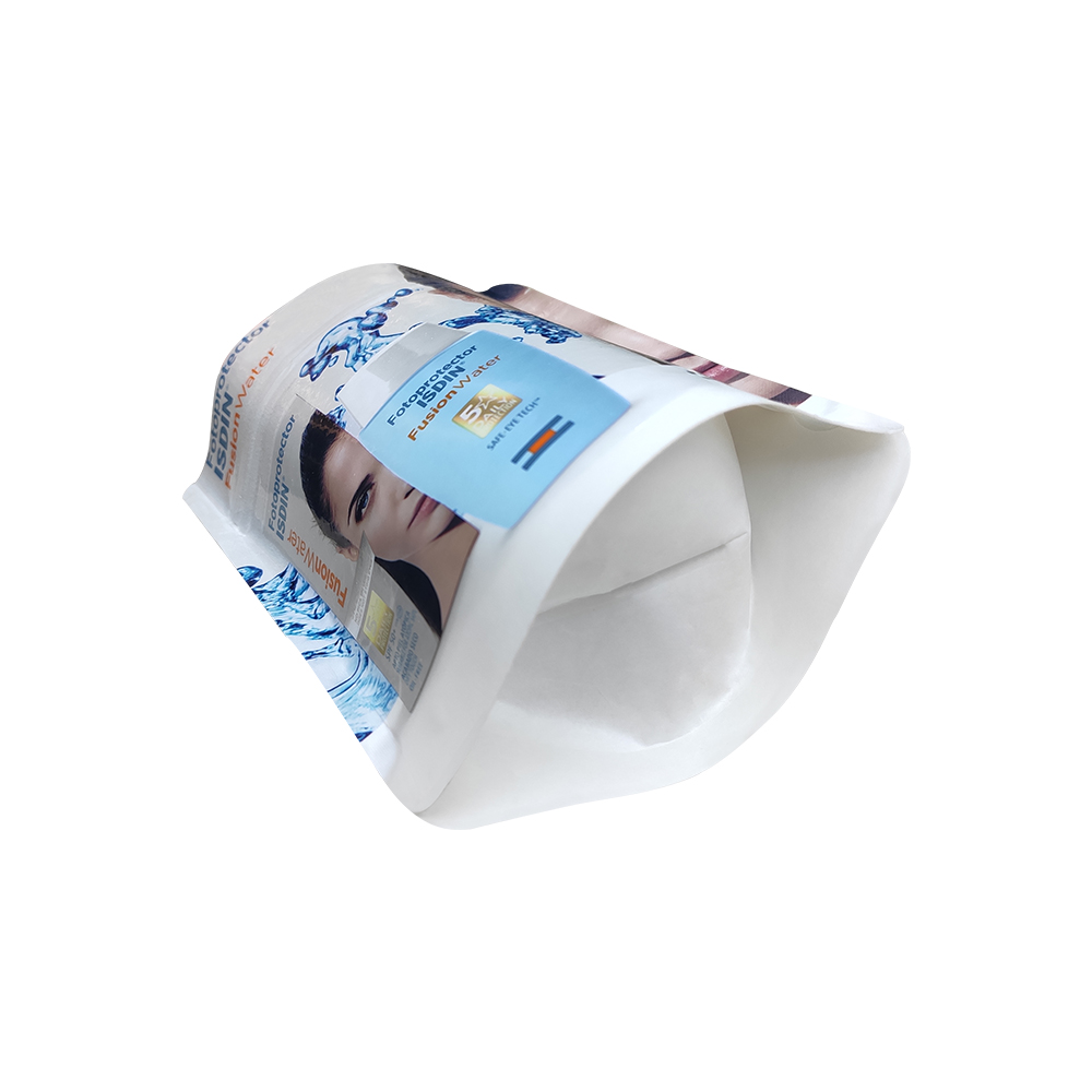 Compostable Printed Suncream Cosmetic Product Packaging Stand Up Pouch