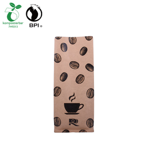 Biodegradable 500g Kraft Paper Packaging Coffee Bag