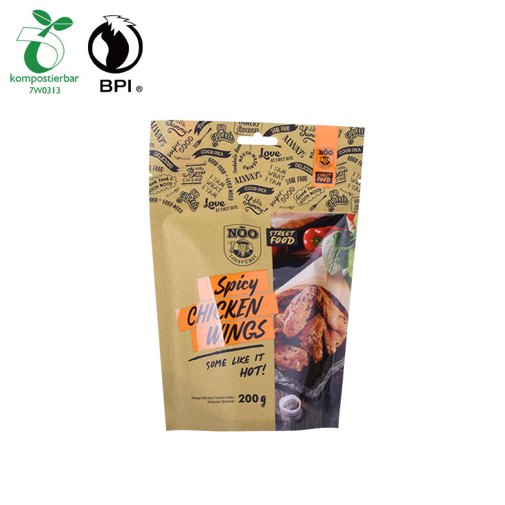 BIO Compostable Stand Up Food Package Bag