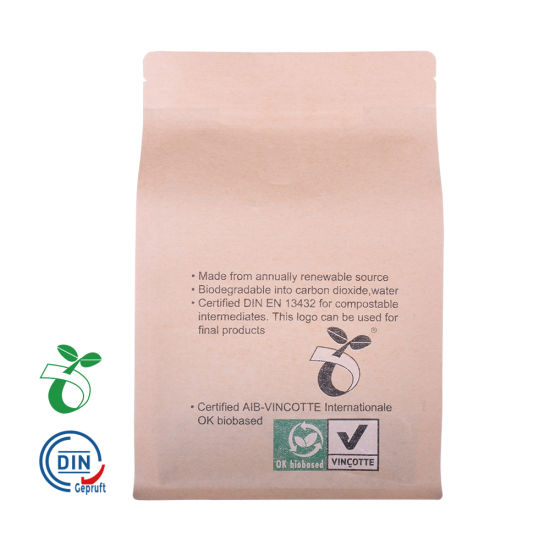 100% Recycle Fsc Certificated Kraft Paper Bags Biodegradable Plastic Bags