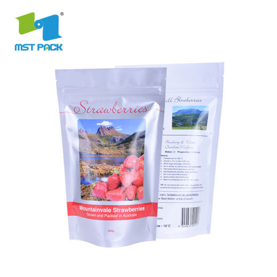 100% Biodegradable Zipper Compostable Bag for Food Snack Eco Friendly Packaging Bag