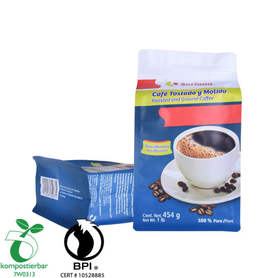 Eco Box Bottom Coffee Packing Bag with Zipper Supplier From China
