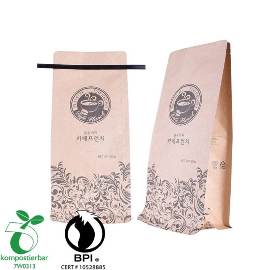 Heat Seal Square Bottom Eco Craft Paper Bag Supplier in China