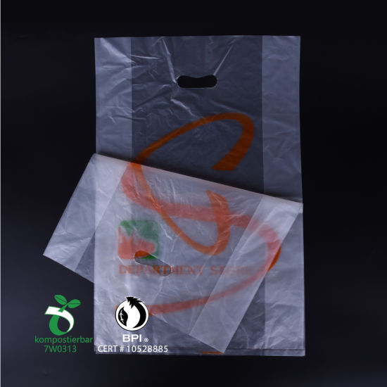 Custom Printed Eco Friendly Biodegradable Plastic Shopping Bag