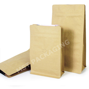 1kg Compostable Kraft Paper Zipper Bag Biodegradable Coffee Bag