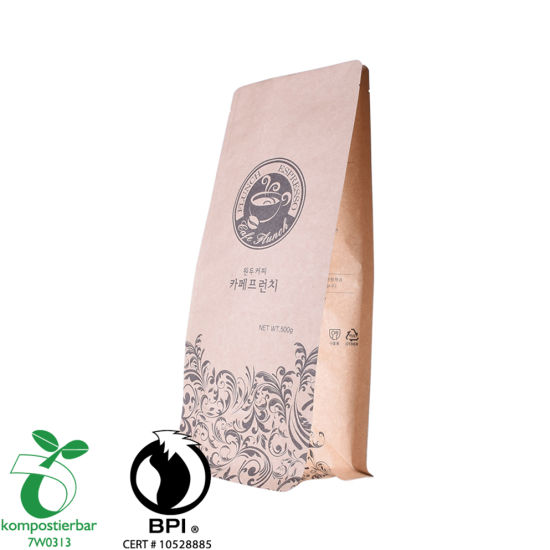 Good Seal Ability Block Bottom PLA Compostable Wholesale in China