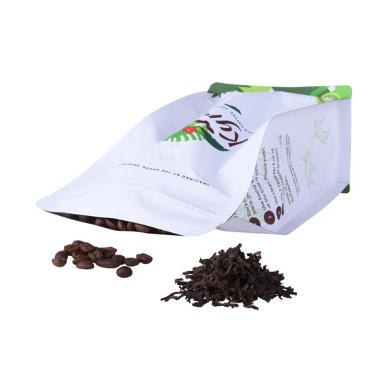 Craft Paper Printed Compostable Zipper Lock Packaging Biodegradable Coffee Bag