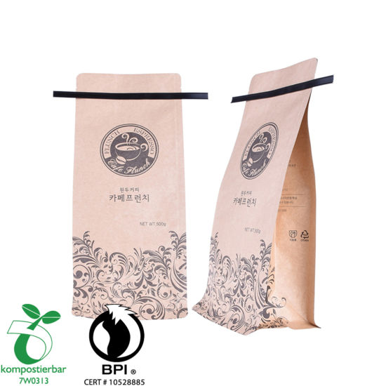 Plastic Zip Lock PLA Paper Bag for Coffee Packaging Factory From China