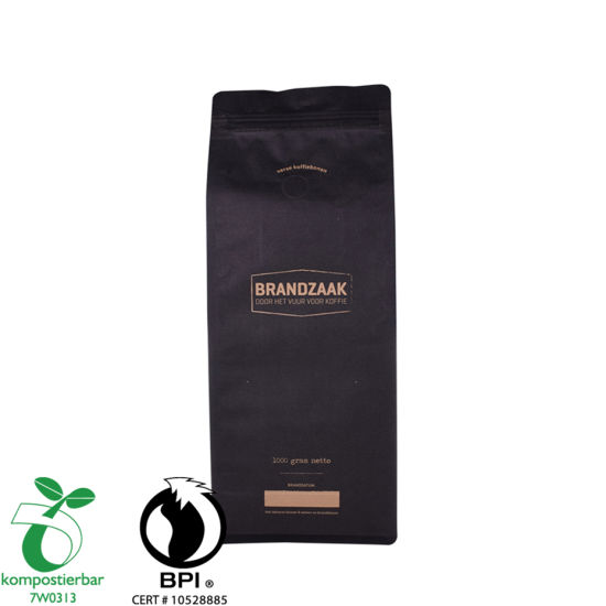 Resealable Ziplock Kraft Paper Transparant Coffee Bag Factory From China
