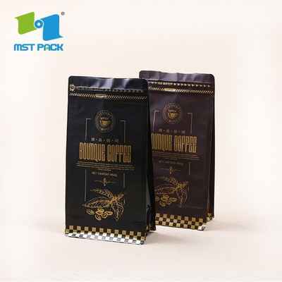 Plastic Coffee Bags Eco Friendly Bio Degradable Pouch Custom Printing Packaging Bag
