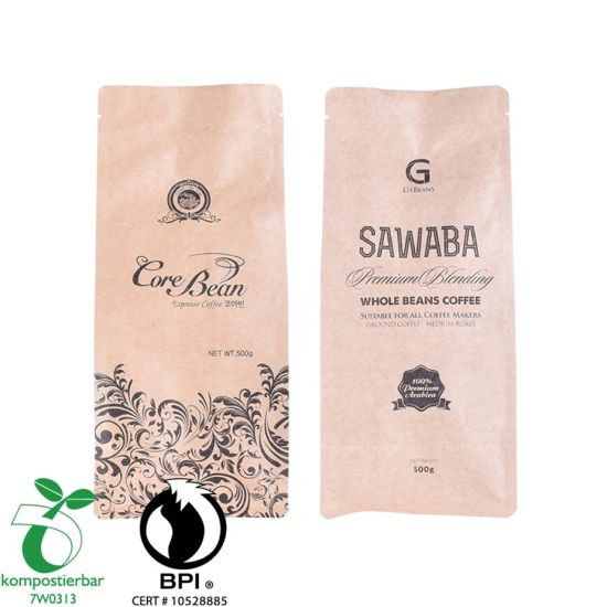 Eco Friendly Kraft Paper Coffee Bag Zip Valve Wholesale From China