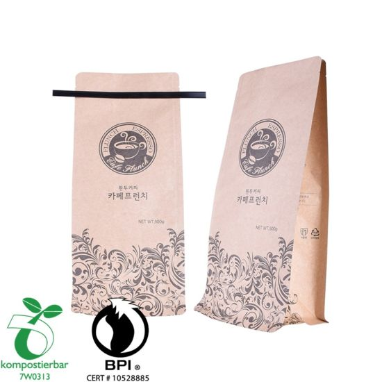 Wholesale Block Bottom Compostable Coffee Bag in China