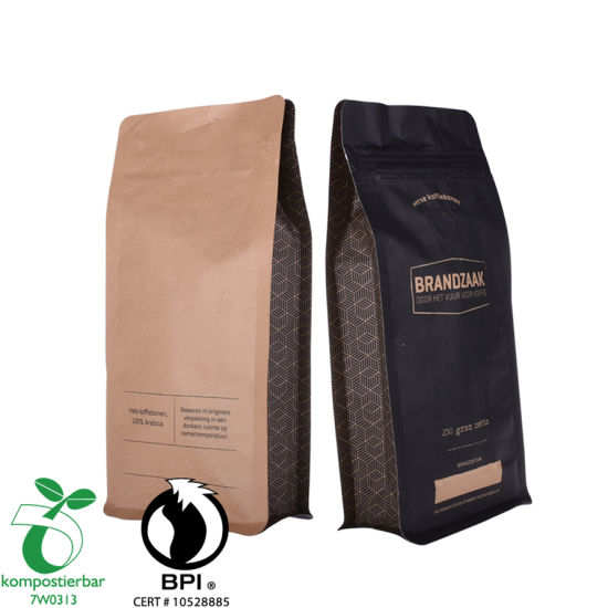 Food Ziplock Compostable Coffee Packaging Bag with Valve Supplier in China