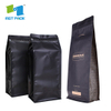 Wholesale Customized Laminated Material Square Bottom Flexible Eco Aluminum Foiled Packaging Biodegradable Degassing Valve Coffee Bags with Logo Printed
