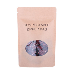 100% Compostable Biodegradable Kraft Paper Bag for Dried Seaweed