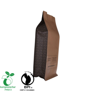 Zipper Doypack Side Gusset Coffee Bag with Valve Manufacturer China