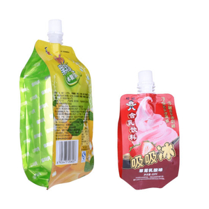 Custom Printed Doypack Stand up Pouch with Spout Wholesale in China