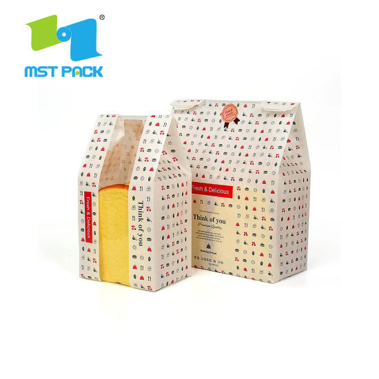 Biodegradable 100% Recycle Paper Bread Bag